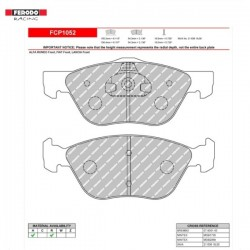 FERODO RACING- Brake pads FCP1052R