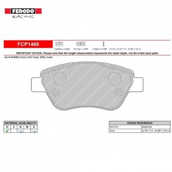 FERODO RACING- Brake pads FCP1466R