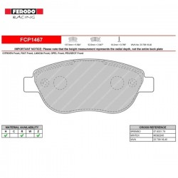 FERODO RACING- Brake pads FCP1467Z