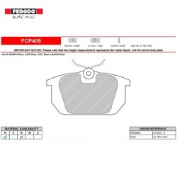 FERODO RACING- Brake pads FCP409H