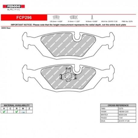 FERODO RACING- Brake pads FCP296H