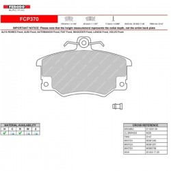 FERODO RACING- Brake pads FCP370W
