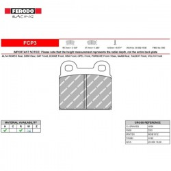 FERODO RACING- Brake pads FCP3W
