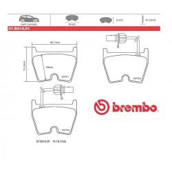 BREMBO- Brake pads 07B31401