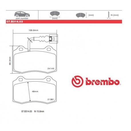BREMBO - Pastiglie freno 07.B314.03