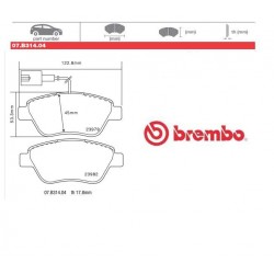 BREMBO - Pastiglie freno 07.B314.04