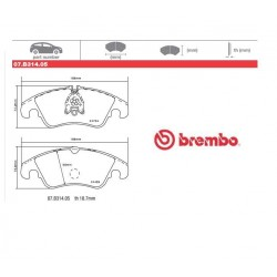 BREMBO - Pastiglie freno 07.B314.05