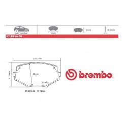 BREMBO - Pastiglie freno 07.B314.06