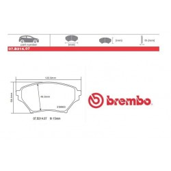 BREMBO - Brake pads 07.B314.07
