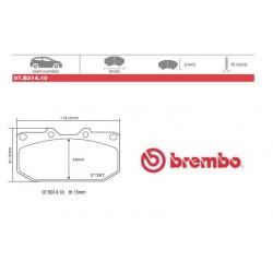 BREMBO - Pastiglie freno 07.B314.10