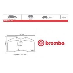 BREMBO - Pastiglie freno 07.B314.12