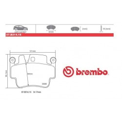 BREMBO - Brake pads 07.B314.15