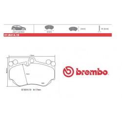 BREMBO - Pastiglie freno 07.B314.19