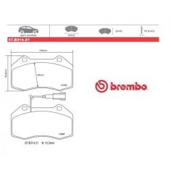 BREMBO - Brake pads 07.B314.21