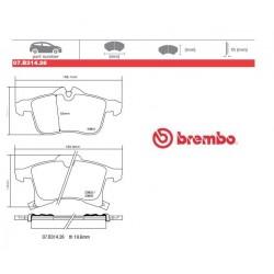 BREMBO - Brake pads 07.B314.26