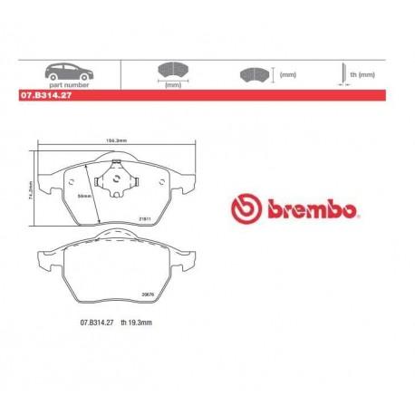 BREMBO - Brake pads 07.B314.27