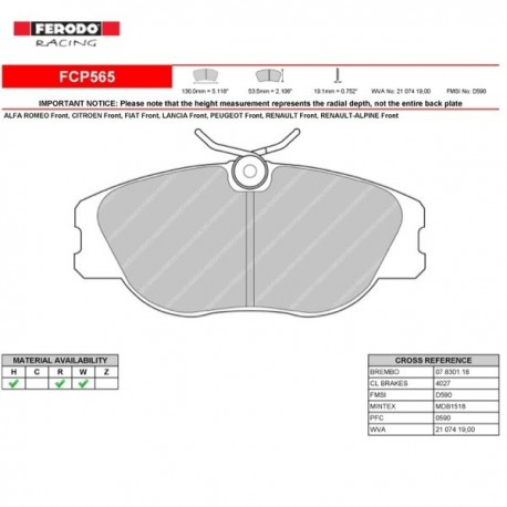FERODO RACING- Pastiglie freno FCP565R