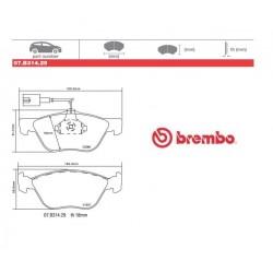 BREMBO - Pastiglie freno 07.B314.29