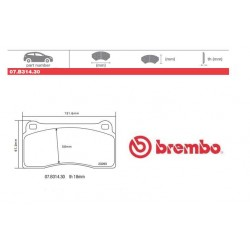 BREMBO - Pastiglie freno 07.B314.30