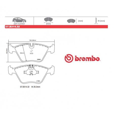 BREMBO - Brake pads 07.B314.32