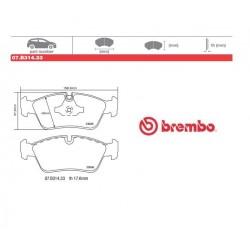 BREMBO - Brake pads 07.B314.33