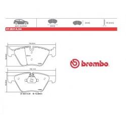 BREMBO - Brake pads 07.B314.34