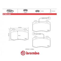 BREMBO - Pastiglie freno 07.B314.39