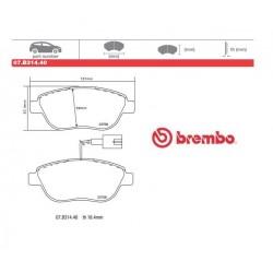 BREMBO - Pastiglie freno 07.B314.40