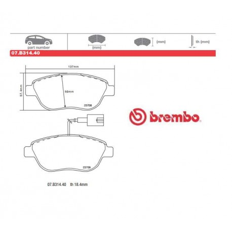 BREMBO - Brake pads 07.B314.40