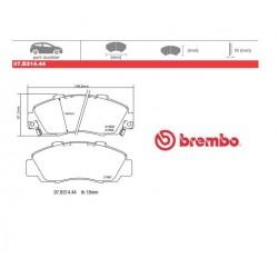 BREMBO - Pastiglie freno 07.B314.44
