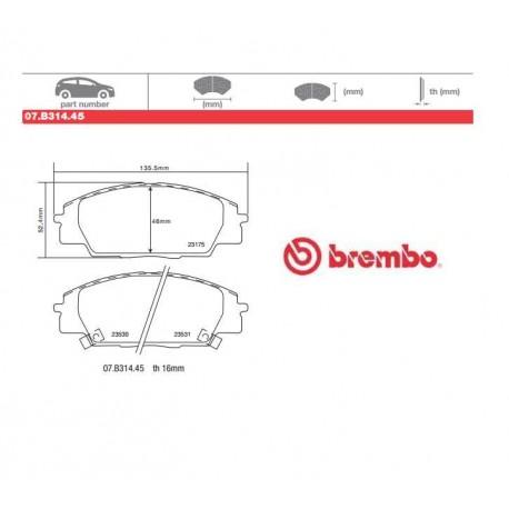 BREMBO - Pastiglie freno 07.B314.45
