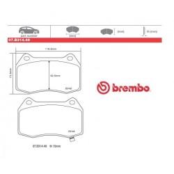 BREMBO - Brake pads 07.B314.49