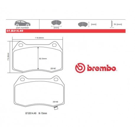 BREMBO - Pastiglie freno 07.B314.49