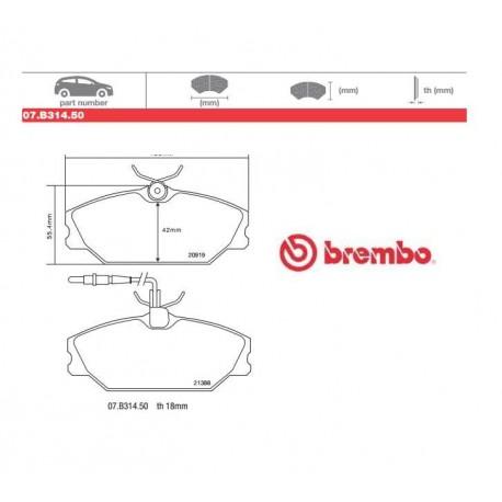 BREMBO - Brake pads 07.B314.50