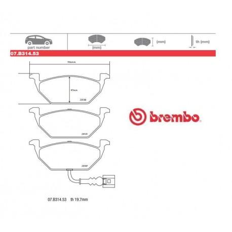 BREMBO - Brake pads 07.B314.53