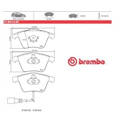 BREMBO - Brake pads 07.B314.55