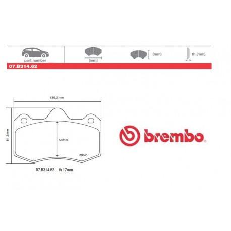 BREMBO - Brake pads 07.B314.62