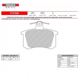 FERODO RACING- Brake pads FCP596R
