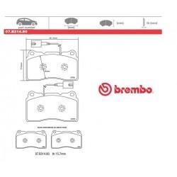 BREMBO - Pastiglie freno 07.B314.80
