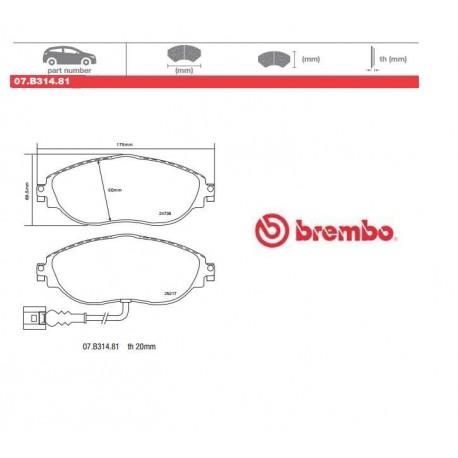 BREMBO - Brake pads 07.B314.81