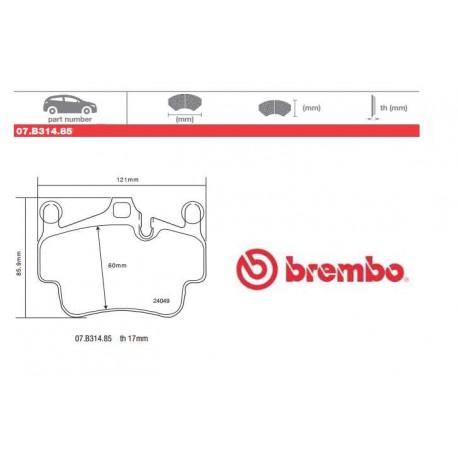 BREMBO - Pastiglie freno 07.B314.85