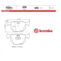 BREMBO - Brake pads 07.B315.01
