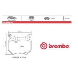 BREMBO - Brake pads 07.B315.03
