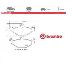 BREMBO - Pastiglie freno 07.B315.06