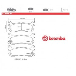 BREMBO - Brake pads 07.B315.07