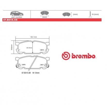 BREMBO - Brake pads 07.B315.08