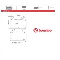 BREMBO - Pastiglie freno 07.B315.11