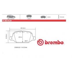 BREMBO - Pastiglie freno 07.B315.23