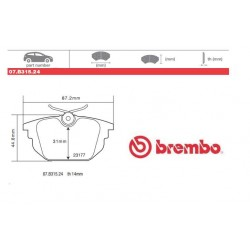 BREMBO - Pastiglie freno 07.B315.24