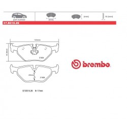 BREMBO - Brake pads 07.B315.26